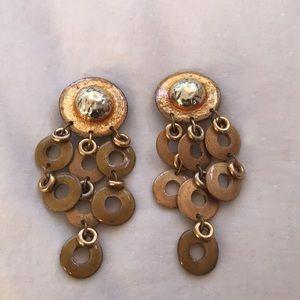 90s women's large earrings, clip on